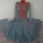 """Одежда ручной работы. Ярмарка Мастеров - ручная работа Ажурное мохеровое платье """"Афродита"""" ручной работы. Handmade."""