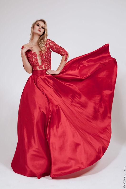 Платья ручной работы. Ярмарка Мастеров - ручная работа. Купить Малина. Handmade. Фуксия, малиновый цвет, платье в пол