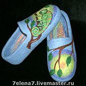 """Обувь ручной работы. Ярмарка Мастеров - ручная работа Тапочки """"Хамелеон"""". Handmade."""