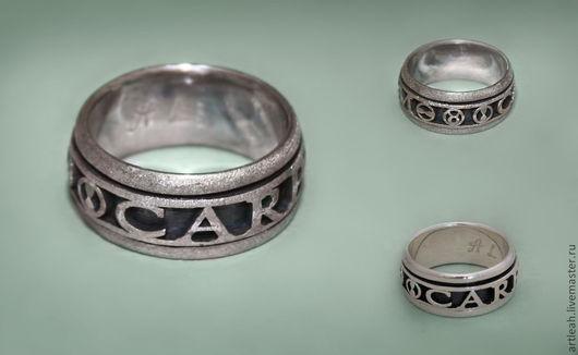 """Кольца ручной работы. Ярмарка Мастеров - ручная работа. Купить Мужское серебряное кольцо с надписью """" Carpe diem"""". Handmade."""