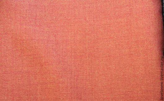 """Шитье ручной работы. Ярмарка Мастеров - ручная работа. Купить Ткань полушерсть, однотонная, """"Морковь"""". Handmade. Рыжий, мода 2016"""