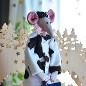 Мягкие игрушки ручной работы. Ярмарка Мастеров - ручная работа Крыска с портфелем. Handmade.