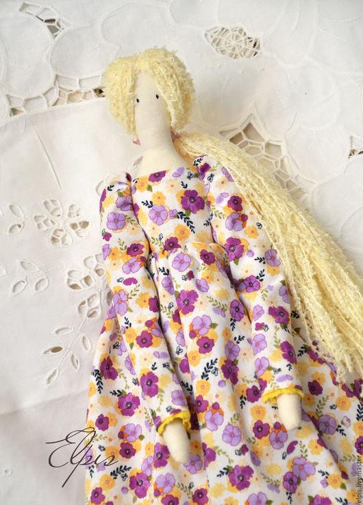Куклы Тильды ручной работы. Ярмарка Мастеров - ручная работа. Купить Текстильная кукла Виолетта. Handmade. Кукла ручной работы