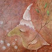 Картины и панно ручной работы. Ярмарка Мастеров - ручная работа Подснежинка...Картина-принт на холсте.. Handmade.