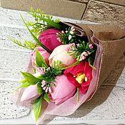 Подарки на 8 марта ручной работы. Ярмарка Мастеров - ручная работа Букет из мыльных цветов. Handmade.