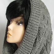 Аксессуары handmade. Livemaster - original item Tube Snood hood dark gray Merino Baby Merino. Handmade.