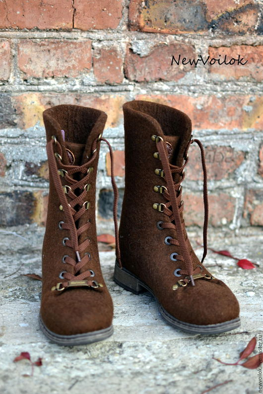 Женская обувь. Женские валяные ботинки  NewVoilok. Женские ботинки, валяные ботинки, стильные ботинки.