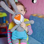 Материалы для творчества ручной работы. Ярмарка Мастеров - ручная работа Мастер-класс по вязанию пасхального кролика. Handmade.