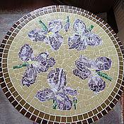 """Для дома и интерьера ручной работы. Ярмарка Мастеров - ручная работа Столешница """" Ирисы"""" , мозаика. Handmade."""