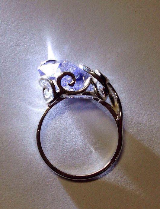 Кольца ручной работы. Ярмарка Мастеров - ручная работа. Купить Кольца с кристаллами на заказ. Handmade. Кольцо, кристалл дюмортьерита