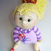 Куклы и игрушки handmade. Livemaster - original item Doll bobblehead. Skater Caramel. Handmade.