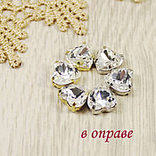 Материалы для творчества handmade. Livemaster - original item Glass rhinestones Heart 10mm Crystal. Handmade.