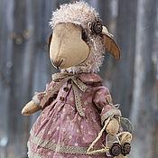 Куклы и игрушки ручной работы. Ярмарка Мастеров - ручная работа Овечка в горошек.. Handmade.