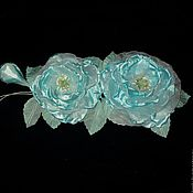 """Украшения ручной работы. Ярмарка Мастеров - ручная работа Ветка роз """"Голубая лагуна"""". Handmade."""