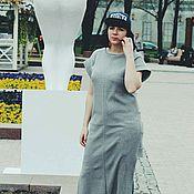 Одежда ручной работы. Ярмарка Мастеров - ручная работа Трикотажное платье с ассиметричным низом. Handmade.