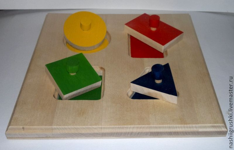 """Развивающие игрушки ручной работы. Ярмарка Мастеров - ручная работа. Купить пазл-вкладыш """"Геометрические фигуры"""". Handmade. Развивающие игрушки"""
