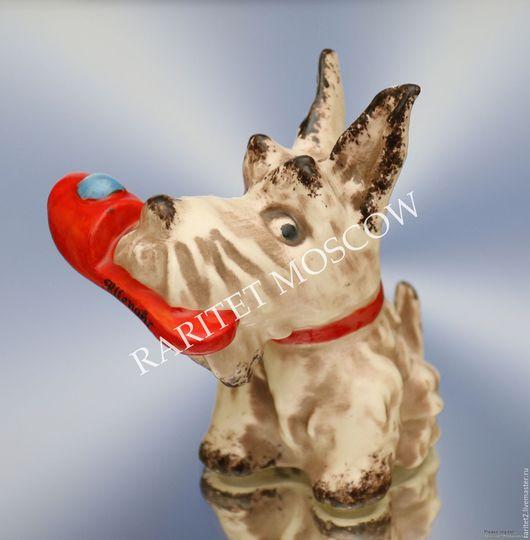 Винтажные предметы интерьера. Ярмарка Мастеров - ручная работа. Купить Собака Wallendorf Валлендорф РЕДКОСТЬ! 32. Handmade. Разноцветный, антиквариат