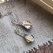 Украшения ручной работы. Ярмарка Мастеров - ручная работа Серьги из серебра и латуни «Крылья». Handmade.