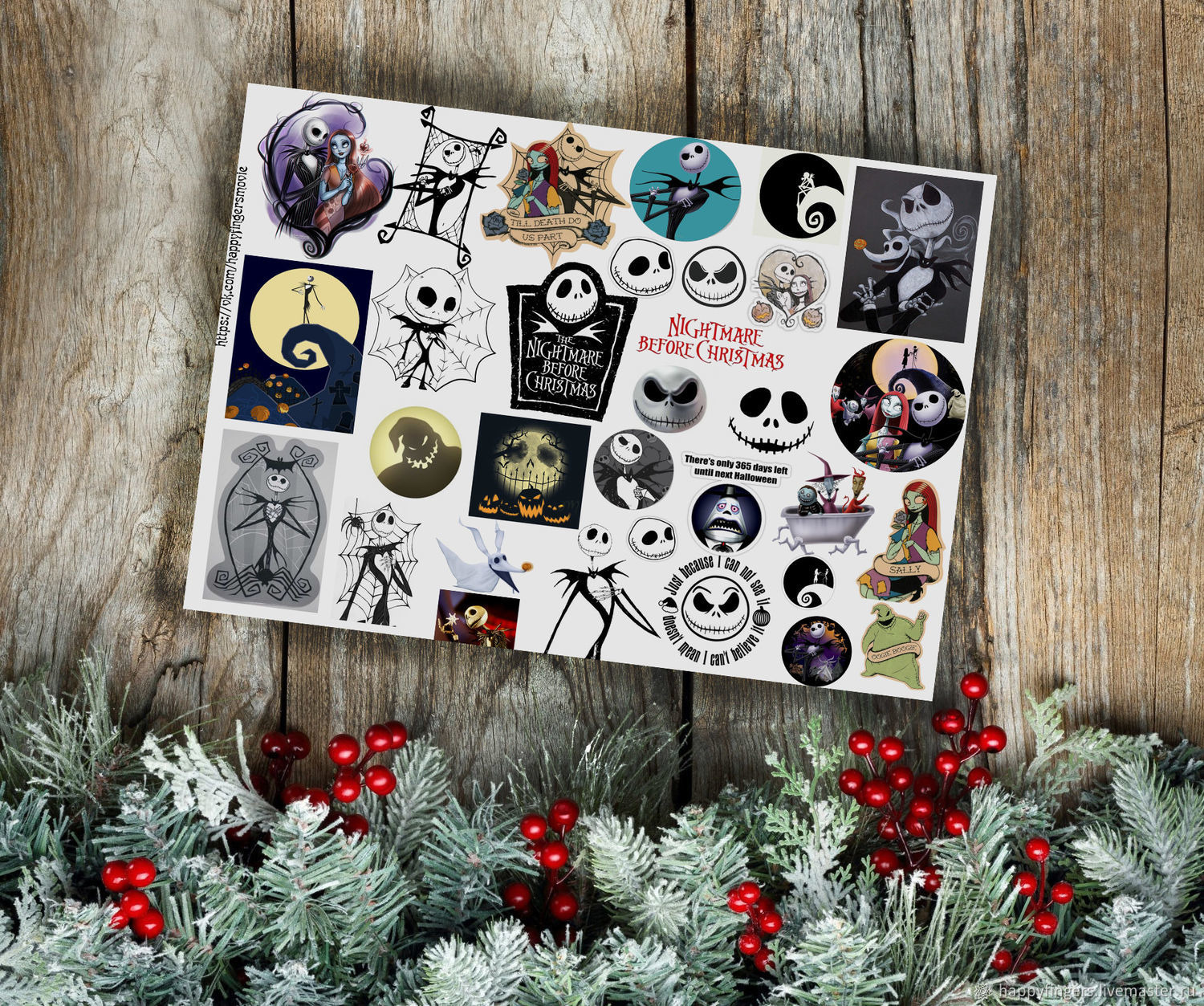 Stickers Tim Burton\'s Alice, the Nightmare before Christmas – shop ...