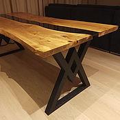 Для дома и интерьера handmade. Livemaster - original item Table made of slab with glass. Handmade.
