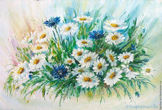 Картины цветов ручной работы. Ярмарка Мастеров - ручная работа. Купить Букет. Handmade. Комбинированный, зеленый, живопись маслом, цветы
