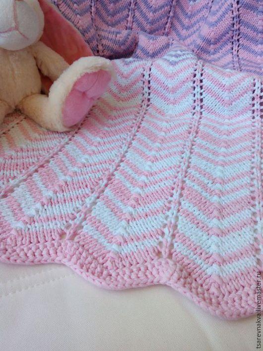 Пледы и одеяла ручной работы. Ярмарка Мастеров - ручная работа. Купить Плед для маленькой принцессы. Handmade. Розовый, детский плед