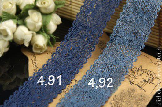 Шитье ручной работы. Ярмарка Мастеров - ручная работа. Купить Кружево синее. Артикул 4,91, 4,92. Handmade.