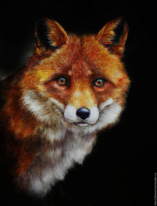 Животные ручной работы. Ярмарка Мастеров - ручная работа. Купить лиса. Handmade. Рыжий, лиса, животное, маслянные краски
