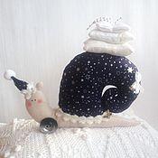 Куклы и игрушки ручной работы. Ярмарка Мастеров - ручная работа улитка тильда соня улиточка звездочет. Handmade.