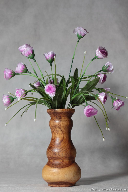 Интрерьерная ваза для икебаны. Дерево