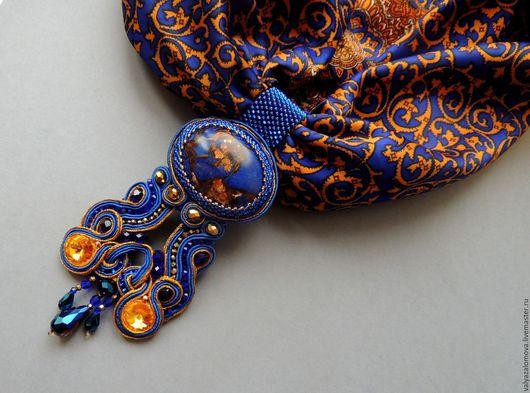 """Кулоны, подвески ручной работы. Ярмарка Мастеров - ручная работа. Купить Сутажный кулон на шарфе """"Вдохновенье"""". Handmade. сутажный кулон"""