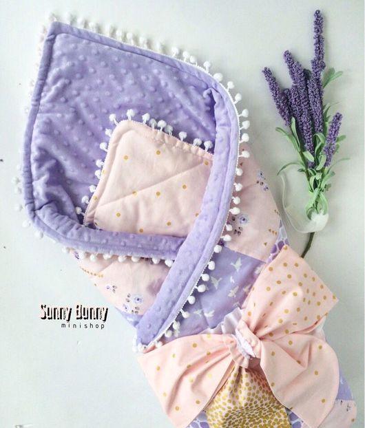"""Для новорожденных, ручной работы. Ярмарка Мастеров - ручная работа. Купить Одеяло-конверт """"Прованс"""" с бантом на резинке.. Handmade."""