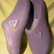 Обувь ручной работы. Ярмарка Мастеров - ручная работа Валяные мужские тапочки. Handmade.