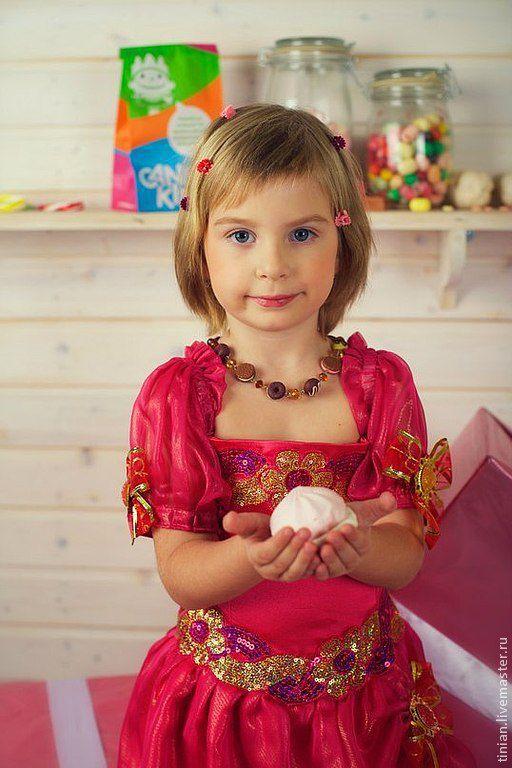 Детские карнавальные костюмы ручной работы. Ярмарка Мастеров - ручная работа. Купить Карамелька розовая. Handmade. Фуксия, карнавальный костюм