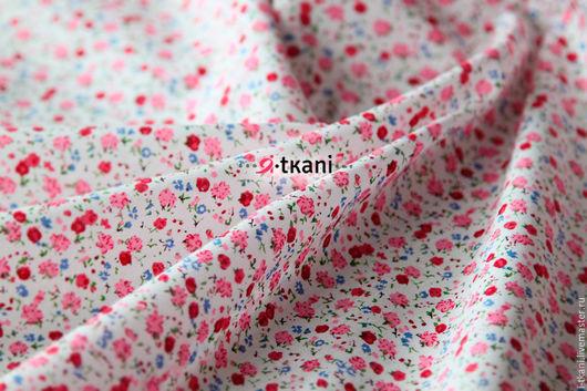 HL02-019 Хлопок поплин. Мелкие цветочки. Цвет розовый. 100% хлопок. Китай.  Ширина 145см. Плотность 160г/мп. Цена за 1м - 480руб.  Цена за отрез 48х50см. - 100руб.