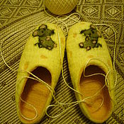 Обувь ручной работы handmade. Livemaster - original item felted Slippers Rest on the cheese. Handmade.