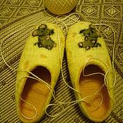 Обувь ручной работы. Ярмарка Мастеров - ручная работа тапочки валяные Отдых на сыре.. Handmade.