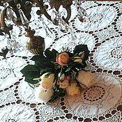 Винтаж handmade. Livemaster - original item Vintage Beautiful vintage tablecloth with medallions. Handmade.