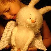 Куклы и игрушки ручной работы. Ярмарка Мастеров - ручная работа Зайчик -ангел. Handmade.