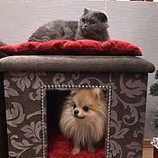 Для домашних животных, ручной работы. Ярмарка Мастеров - ручная работа Пуфик и домик для собаки или кошки. Handmade.