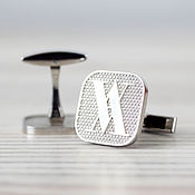 Украшения handmade. Livemaster - original item Silver cufflinks with the company logo. Handmade.