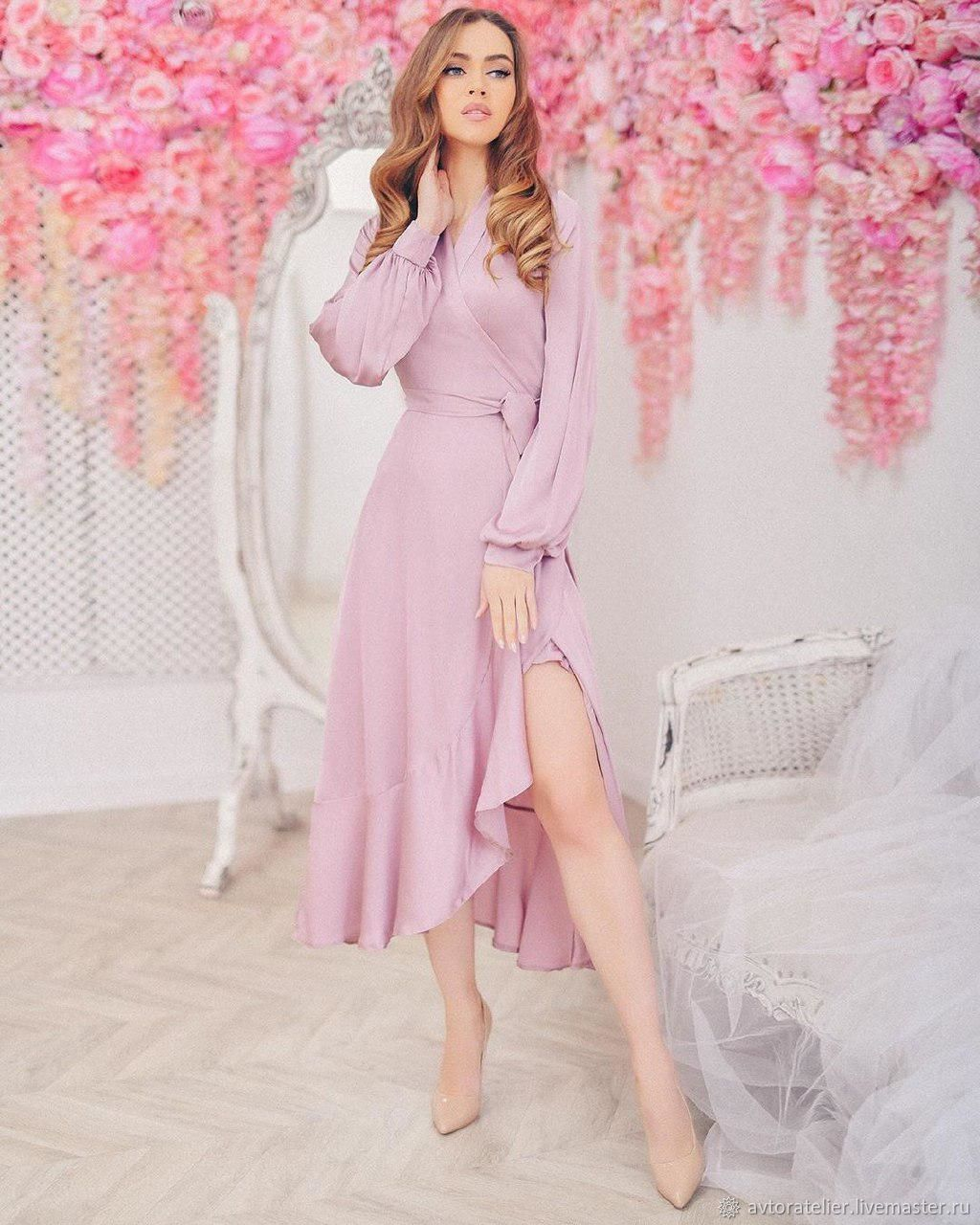 Платье Пудрового Цвета Для Девочки