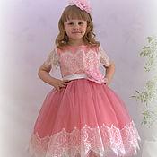Работы для детей, ручной работы. Ярмарка Мастеров - ручная работа Платье для девочки 4--7 лет Рост 110-120. Handmade.
