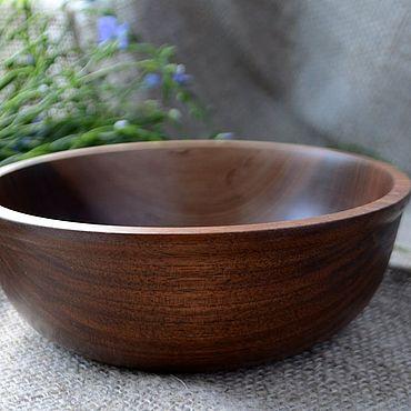 Посуда ручной работы. Ярмарка Мастеров - ручная работа Салатник из древесины ореха. Handmade.
