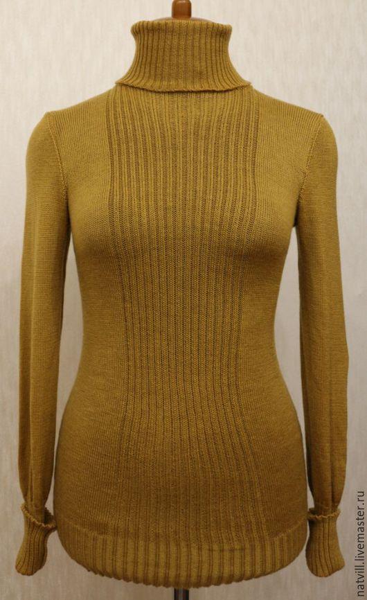 Кофты и свитера ручной работы. Ярмарка Мастеров - ручная работа. Купить Водолазка горчичного цвета. Handmade. Желтый, базовый гардероб