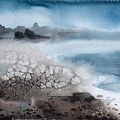 Картины и панно ручной работы. Ярмарка Мастеров - ручная работа Галечный пляж. Handmade.