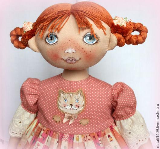 Детская ручной работы. Ярмарка Мастеров - ручная работа. Купить Пижамница кукла - пижамница Галочка. Handmade. Коралловый, пижама для девочки