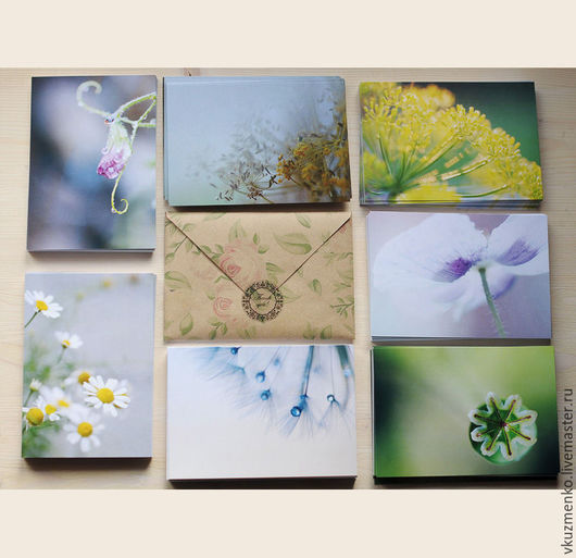 Открытки на все случаи жизни ручной работы. Ярмарка Мастеров - ручная работа. Купить Набор открыток Цветы. Handmade. Цветы, тепло