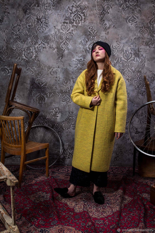 ac9cb16dbac Верхняя одежда ручной работы. Ярмарка Мастеров - ручная работа. Купить  Осеннее Пальто желтое кокон ...