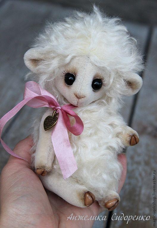 Мишки Тедди ручной работы. Ярмарка Мастеров - ручная работа. Купить Овечка Молли. Handmade. Белый, тедди, кудряшка, синтепух